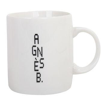agnes b. 直立AGNES B  logo馬克杯(白)