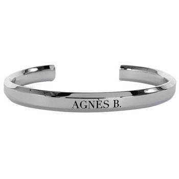 agnes b. b-logo造型手環/銀(3)(4)號