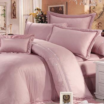 Lily Royal 300織 頂級天絲 雙人四件式兩用被床包組-豆沙