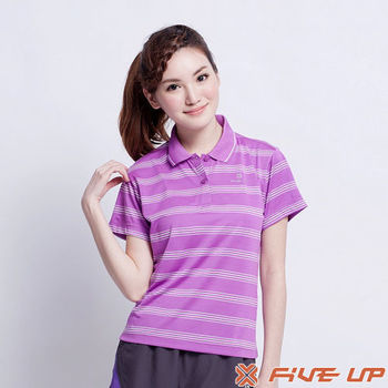 【FIVE UP】輕翼天使吸排POLO衫-紫2312138192