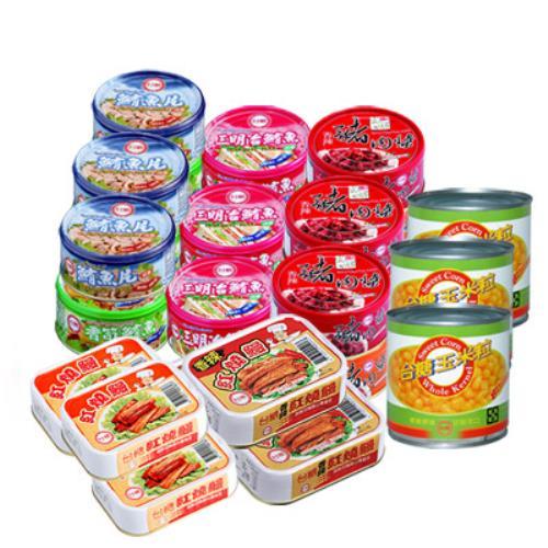 台糖安心豚 拜拜澎湃罐頭組9件組(鮪魚/豬肉醬/紅燒鰻/玉米粒)