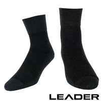 LEADER 除臭去味 紳士素面短筒寬口襪 ^#40 黑色 ^#41