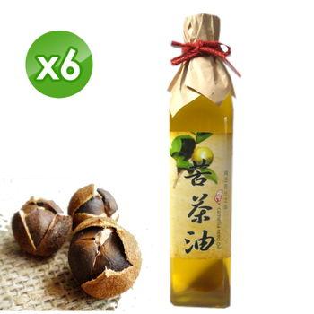 【億佳】梅山合作社手工苦茶油(500mlx6罐)