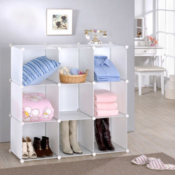 【莫菲思】美學設計-9格組合櫃/收納櫃-白體