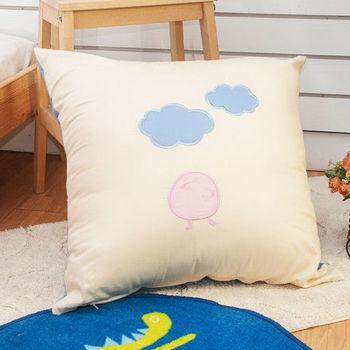 生活提案 精梳棉貼布繡 大抱枕-咕咕鳥