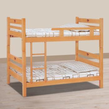 【時尚屋】[UZ6]貝克檜木色3尺單欄雙層床114-1不含床墊
