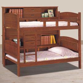 【時尚屋】[UZ6]凱德3.5尺柚木邊櫃雙層床UZ6-111-2不含床墊