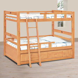 【時尚屋】[UZ6]貝克檜木3.5尺收納雙層床UZ6-110-4不含床墊