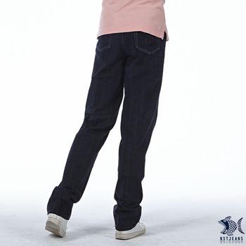 【NST Jeans】390(5408) NST電繡 低調奢華 純棉牛仔長褲(中腰)