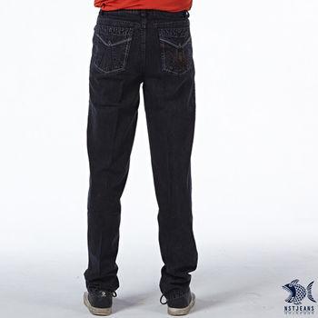 【NST Jeans】390(5410) 簡約線條 圖騰造型 牛仔長褲(中腰)