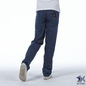 【NST Jeans】390(5411) 美式盾牌造型 吸濕排汗 微彈牛仔長褲(中腰)