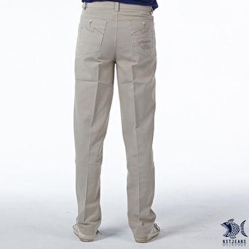 【NST Jeans】390(5415) 淡米色精梳棉休閒長褲(中腰)
