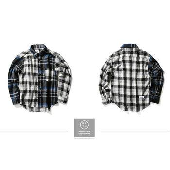 RPTN Vintage Little Plaid Splice Shirt  拼接點點格紋襯衫 / 藍