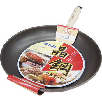 【晶鋼】台灣製日式獨創雙熱源陶瓷不沾平底鍋-26cm