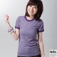 ~美國 Bella ~美式休閒雙彩短TEE ^#45 女 ^#45 紫