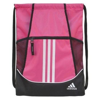 【Adidas】2016時尚聯盟粉色抽繩後背包(預購)
