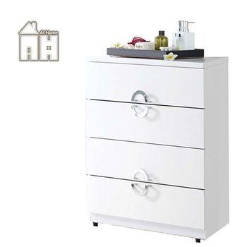 【AT HOME】凱渥2.7尺白色四斗櫃