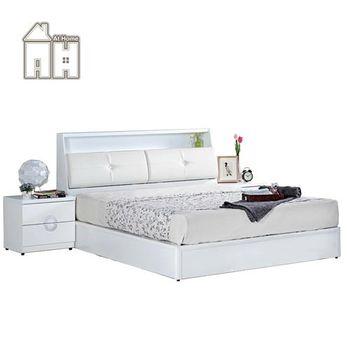 【AT HOME】凱渥5尺白色雙人床(不含床墊)