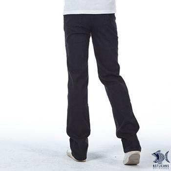 【NST Jeans】380(5442) 獨特 黑咖啡 修身 牛仔長褲(中低腰窄版) 小直筒/男/騎士靴