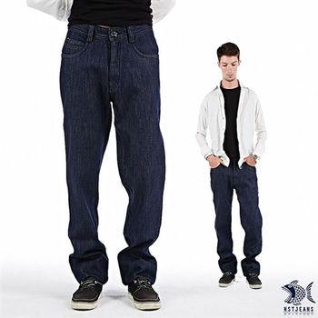 【NST Jeans】380(5445) 簡潔單寧藍 牛仔褲(中低腰窄版) 小直筒/男 騎士靴/韓版/耐穿