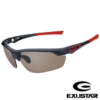 EXUSTAR 全視線太陽眼鏡 (黑紅)