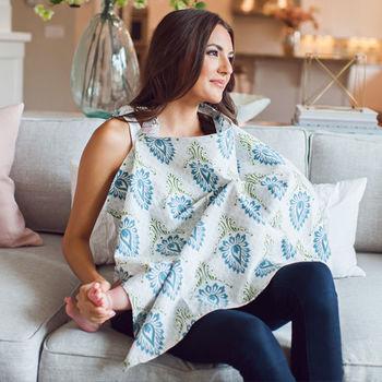 美國Mothers Lounge美型哺乳巾-雀綠印度