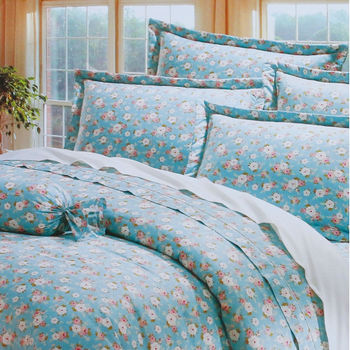 【R.Q.POLO】日居的禮物系列-花園假期 純棉床包被套四件組/雙人特大(7尺)
