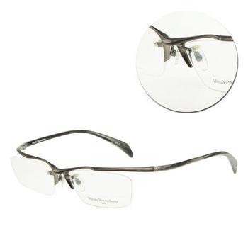 【Masaki Matsushima】時尚眉框鈦金屬光學眼鏡(MF-1156 槍色/透明黑)