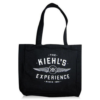 Kiehls 契爾氏 The kiehls experience 限定 肩背手提 黑色帆布袋