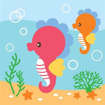 LOVIN 超萌韓版數字油畫海洋系列 可愛海馬(9)1幅