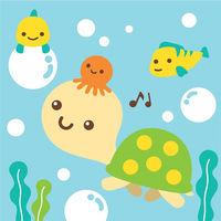 LOVIN 超萌 數字油畫海洋系列 可愛烏龜 8  1幅