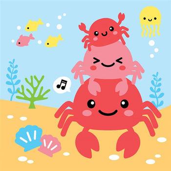 LOVIN 超萌韓版數字油畫海洋系列 可愛螃蟹(7)1幅
