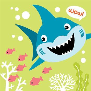 LOVIN 超萌韓版數字油畫海洋系列 可愛鯊魚(6)1幅