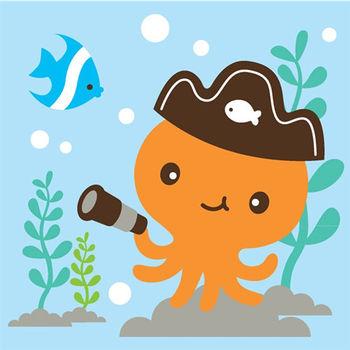 LOVIN 超萌韓版數字油畫海洋系列 可愛章魚(5)1幅