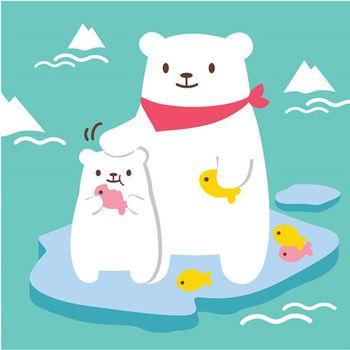 LOVIN 超萌韓版數字油畫海洋系列 可愛北極熊(3)1幅