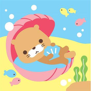 LOVIN 超萌韓版數字油畫海洋系列 可愛貝殼海獺(2)1幅
