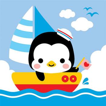 LOVIN 超萌韓版數字油畫海洋系列 可愛企鵝(1)1幅