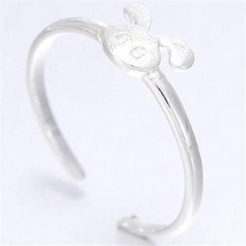 【米蘭精品】925純銀戒指銀飾小兔子造型可愛迷人