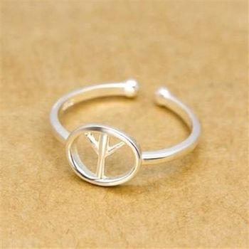 【米蘭精品】925純銀戒指銀飾飛機造型獨特