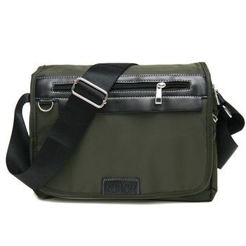 MAKSIM 簡約實用尼龍側背包 / 可放10吋平板(1155軍綠)