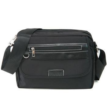 MAKSIM 潮流時尚多夾層尼龍側背包 / 可放10吋平板(1153黑)