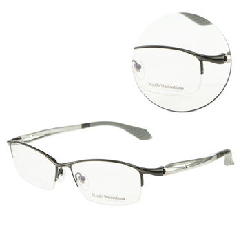 【Masaki Matsushima】時尚半框鈦金屬光學眼鏡(MFS-107 槍色/銀)