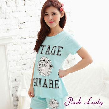 【PINK LADY】家有惡犬成套睡衣褲6805(藍)