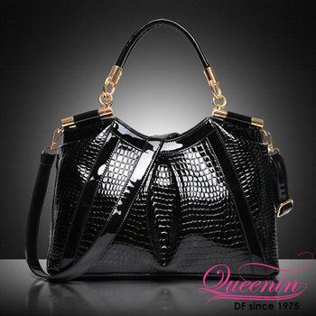 DF Queenin日韓 - 曼哈頓奢華鱷魚紋兩用手提包