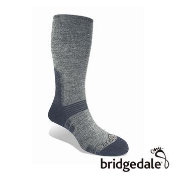 Bridgedale 英國機能襪-SM登峰者 羊毛保暖襪-中厚 灰藍(M)