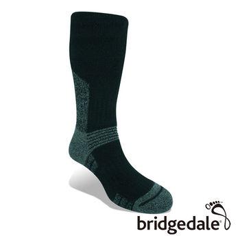 Bridgedale 英國機能襪-SM登峰者 羊毛保暖襪-中厚 黑(M)