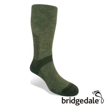 Bridgedale 英國機能襪-SM登峰者 羊毛保暖襪-中厚 橄欖綠(M)