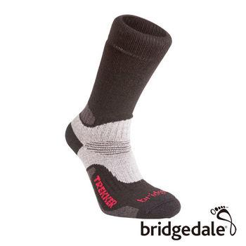 Bridgedale 英國機能襪-TK健行者 羊毛保暖襪-中厚 黑(M)