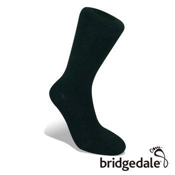 Bridgedale 英國機能襪-CC都市遊俠 美麗諾避震襪 黑(M)