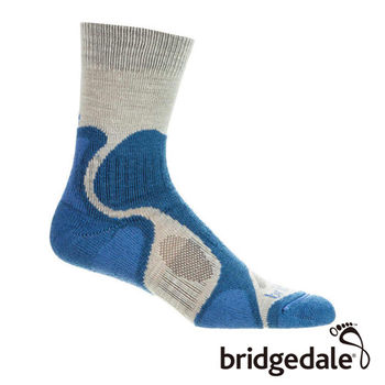 Bridgedale 英國機能襪-Trail B山徑 雙圈避震襪薄女 藍(M)